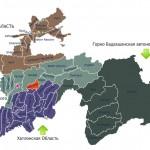 Карта Файзабадского района Таджикистан