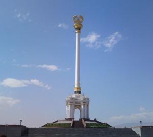 Стелла- Герб Таджикистана построенной в г. Душанбе в 2009г. (45метровый)