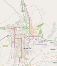 Карта Душанбе