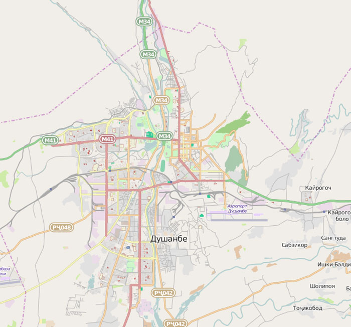 Dushanbe Streets All List By Name - Dushanbe map