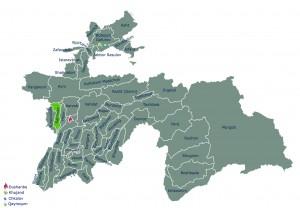 Располошение Шахринав на карте РТ