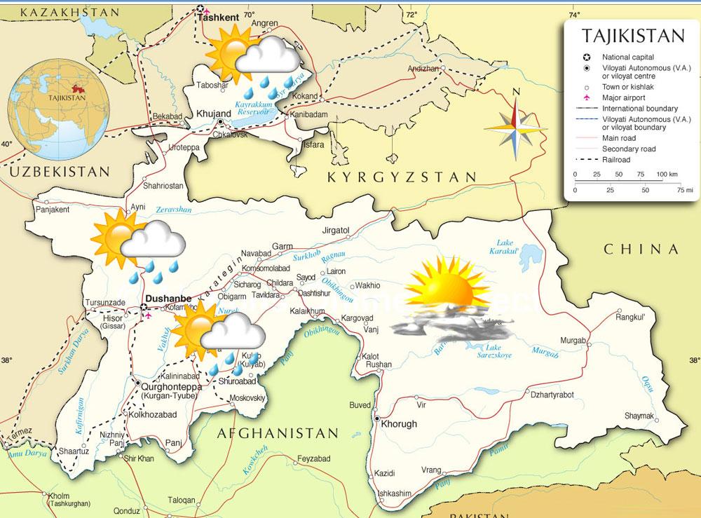 Погода в Таджикистане