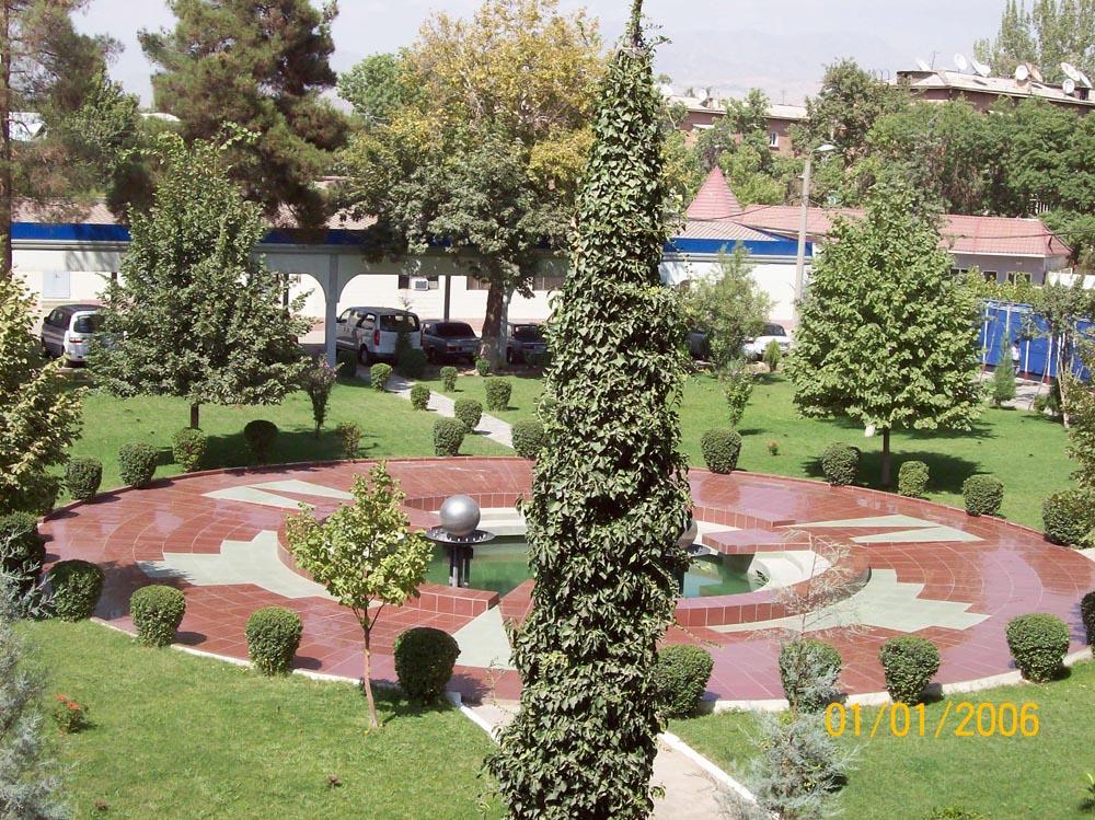Двор - Сад и фонтан Агроинвестбанк