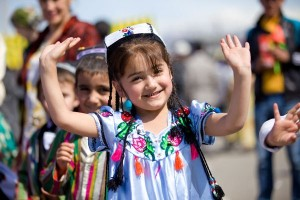 Children on holiday in Tajikistan