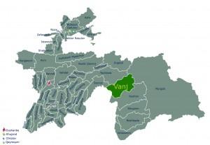 Map Vanj (Vanj) region Tajikistan