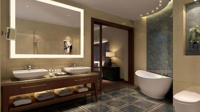 гостиничная ванная комната