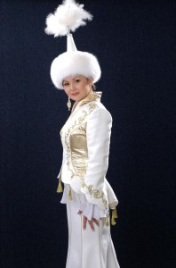 Kazakh women in national dress