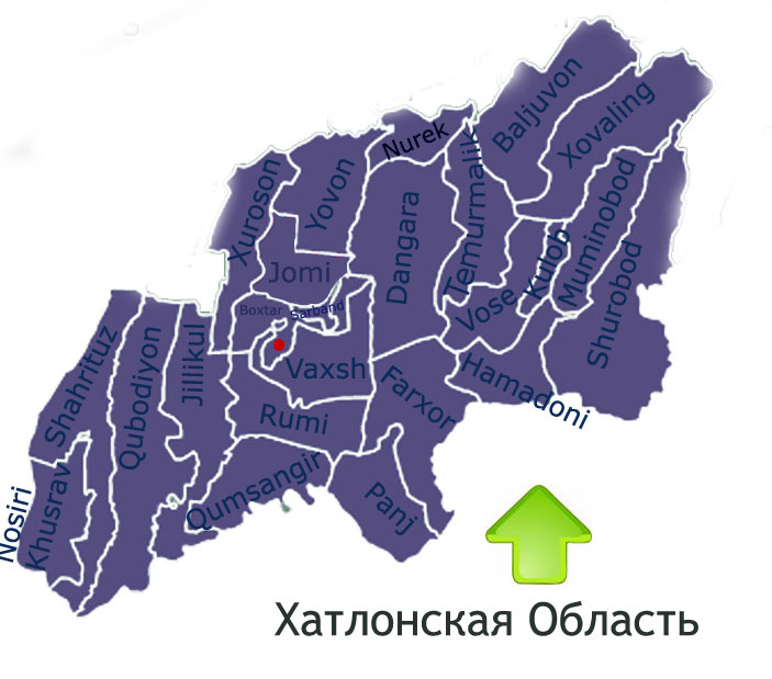 Map of Khatlon Region
