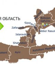 Карта Согд