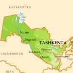 Карта Узбекистана со спутника в онлайн