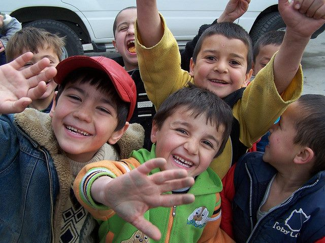 Дети кишлака Таджикистана
