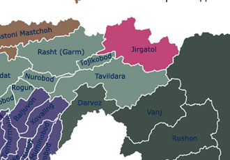 Карта Джиргаталского района