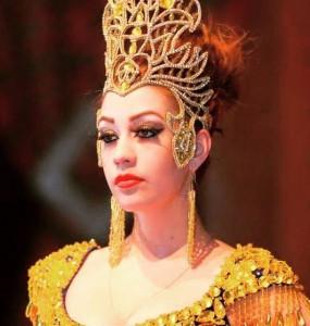 Russion woman in tajik style