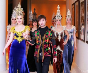 Fashion tajik man and woman