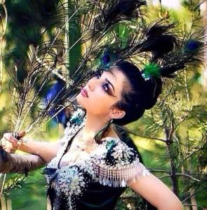 Dark Tajik woman
