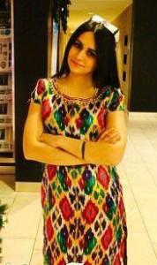 Headdress of Tajik girl