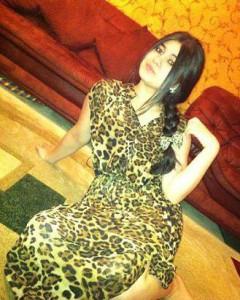 Tajik girl in own home