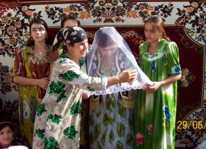 Rural wedding in Tajikistan
