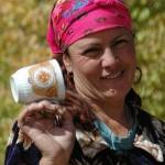 Job and Tajik woman