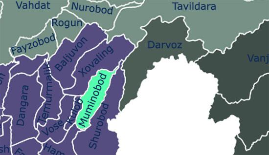 Муминабадский район и границы