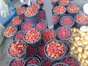 Ведро малины в Таджикских рынках