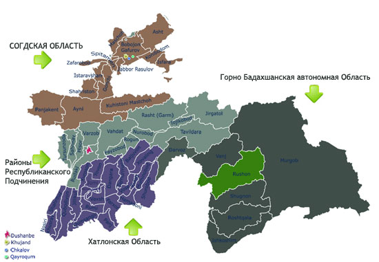 Карта Рушнского района