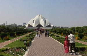 Лотус темпл в Индии