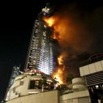 Дубайе сгорел самый высокий дом в новогодний ночь