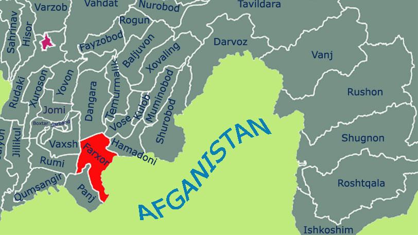Карта Фархар, Фархор, Пархар