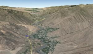 Снимок из космоса Урмитан