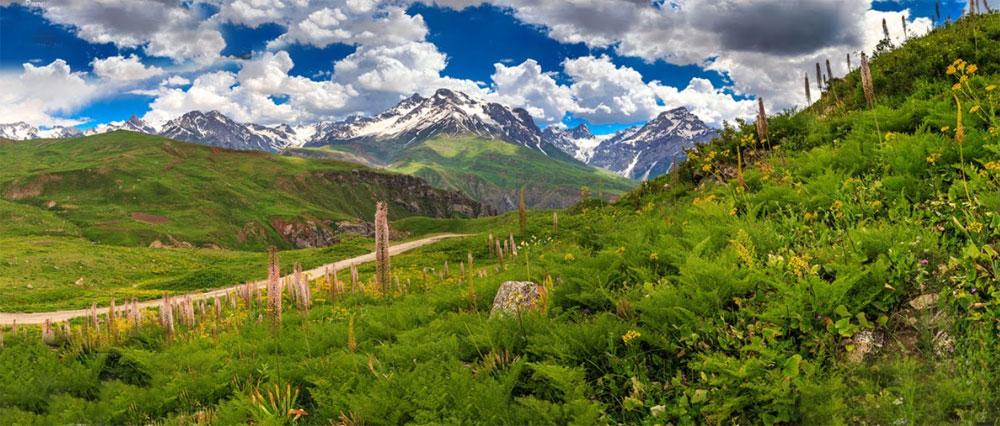 Tajik mountains  in Vahdat district