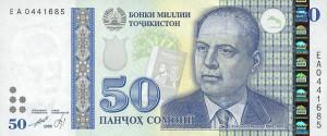 The Tajik currency (money) 50 somoni