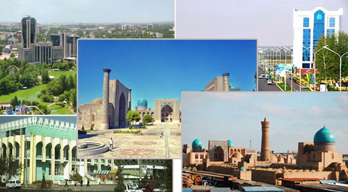 Uzbekistan cities and towns