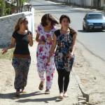 Girls in ssteet of Khorog