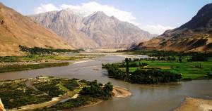 Река Пяндж а далее Амударя