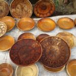 Wooden utensils, plates