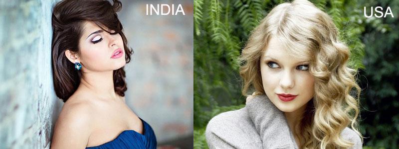 Красивые девушки Америки и Индии