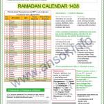 Расписание Рамадан 2017, календарь открытия и закрытия поста