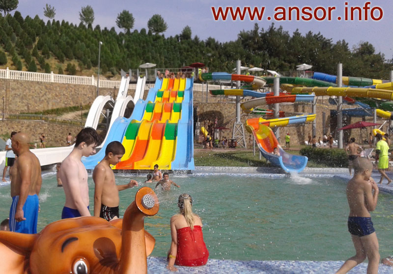 Photo Aquapark Obshoron in the city of Dushanbe Tajikistan