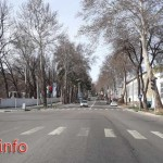 Omar Khayam Street in Dushanbe city