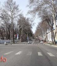 Улица Омара Хаяма в городе Душанбе