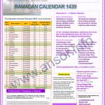 Рамадан — ораза Казахстан 2018, расписание