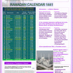 Расписание Рамадан в Астане 2020 году
