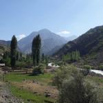 Река Каратаг в Таджикистане