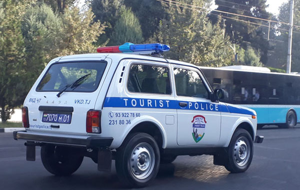 Photo of the car of the Tourist police Tajikistan
