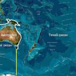 Тихий океан — глубина и карта