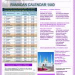 Рамадан — ораза Казахстан 2019, расписание