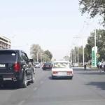 Улица Борбад в городе Душанбе