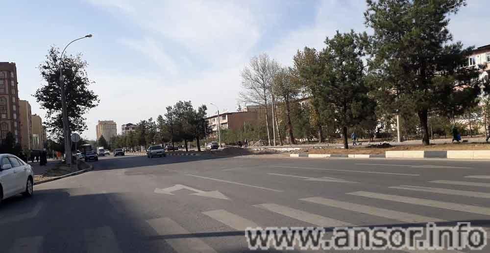 Улица Джами в Душанбе