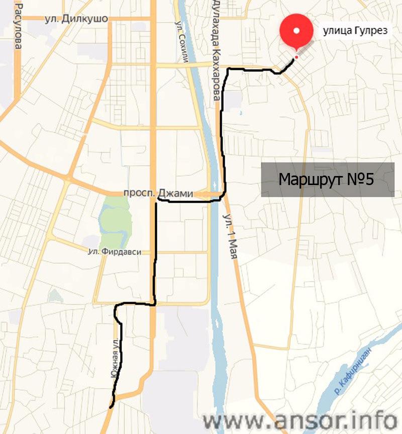 маршрутка 5 душанбе